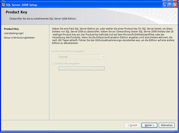 welche sql server version ist installiert